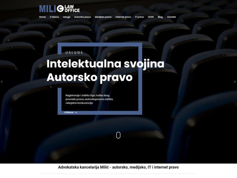 Izrada Sajta - Milic